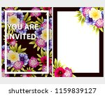 romantic wedding invitation... | Shutterstock .eps vector #1159839127