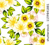 flower print in bright colors.... | Shutterstock .eps vector #1159841881