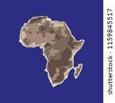 sketch african continent banner.... | Shutterstock .eps vector #1159845517