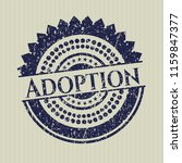 blue adoption rubber seal with... | Shutterstock .eps vector #1159847377