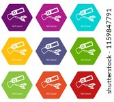 mp3 player icons 9 set coloful...   Shutterstock .eps vector #1159847791