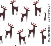 seamless hand drawn christmas... | Shutterstock .eps vector #1159849237