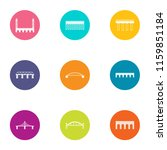 axle icons set. flat set of 9... | Shutterstock .eps vector #1159851184