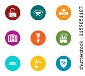 bio hazard icons set. flat set...   Shutterstock .eps vector #1159851187
