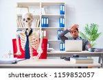 businessman working with... | Shutterstock . vector #1159852057