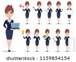 businesswoman cartoon character.... | Shutterstock .eps vector #1159854154