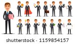 handsome banker in business... | Shutterstock .eps vector #1159854157