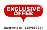 red vector bubble banner... | Shutterstock .eps vector #1159859134