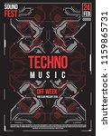 cyberpunk futuristic poster.... | Shutterstock .eps vector #1159865731