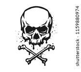 skull and crossbones in grunge... | Shutterstock .eps vector #1159880974