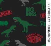 seamless  dino pattern  print... | Shutterstock .eps vector #1159881547