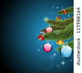 christmas tree branches with...   Shutterstock .eps vector #115988164