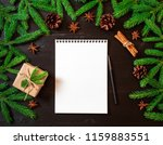 empty white notebook and pen on ... | Shutterstock . vector #1159883551