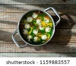 steel pan with turkey meat... | Shutterstock . vector #1159883557
