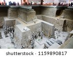 xian   jun 30 terracotta army... | Shutterstock . vector #1159890817