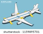 isometric plane crash airplane... | Shutterstock .eps vector #1159895701