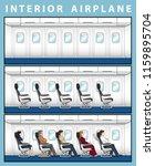 jet passenger on the seat... | Shutterstock .eps vector #1159895704
