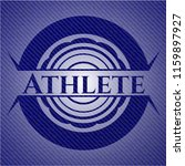 athlete badge with jean texture   Shutterstock .eps vector #1159897927