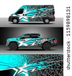 car decal wrap  truck and cargo ...   Shutterstock .eps vector #1159898131