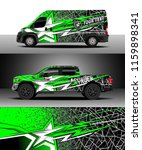 car decal wrap  truck and cargo ...   Shutterstock .eps vector #1159898341