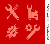 wrench vector icons set. with... | Shutterstock .eps vector #1159900267