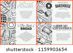 bakery top view baner design... | Shutterstock .eps vector #1159903654