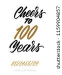 cheers to 100 years. happy...   Shutterstock .eps vector #1159904857