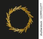 golden vector wheat wreath on...   Shutterstock .eps vector #1159911277