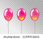 pink balloons. isolated ballons ... | Shutterstock .eps vector #1159913641