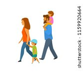 young family with children... | Shutterstock .eps vector #1159920664