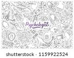 hand drawn psychologist set... | Shutterstock .eps vector #1159922524