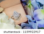 pear illusion setting ring  | Shutterstock . vector #1159922917