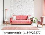 real photo of a pink  velvet...   Shutterstock . vector #1159923577