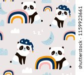 seamless pattern with cute... | Shutterstock .eps vector #1159923661