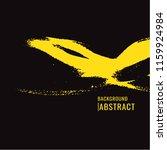 yellow paint brush stain on... | Shutterstock .eps vector #1159924984