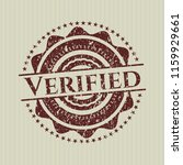 red verified rubber stamp with... | Shutterstock .eps vector #1159929661