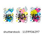 typography colorful slogan girl ... | Shutterstock .eps vector #1159936297