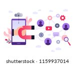 social media ultra violet... | Shutterstock .eps vector #1159937014