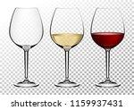 set transparent vector wine... | Shutterstock .eps vector #1159937431