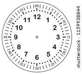 clock face for house  alarm ...   Shutterstock .eps vector #1159938844