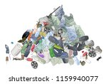 pile of garbage  trash bags and ... | Shutterstock .eps vector #1159940077