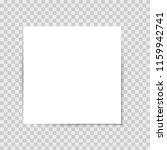 list sticker with shadow | Shutterstock .eps vector #1159942741
