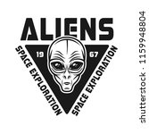 aliens vector emblem with face... | Shutterstock .eps vector #1159948804