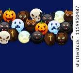 happy halloween seamless... | Shutterstock .eps vector #1159950487