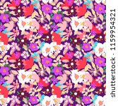 seamless pattern with flowers ... | Shutterstock .eps vector #1159954321