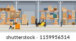 warehouse interior with boxes... | Shutterstock .eps vector #1159956514