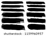 collection of hand drawn black... | Shutterstock .eps vector #1159960957