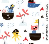 seamless childish pattern with... | Shutterstock .eps vector #1159962607
