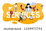 services concept. idea of... | Shutterstock .eps vector #1159971751
