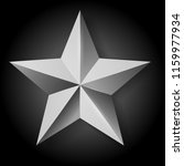 vector realistic silver star on ... | Shutterstock .eps vector #1159977934